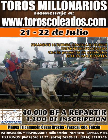 NOTICIAS :: Comunidad de Toros Coleados en Venezuela